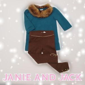 Janie & Jack tunic dress and leggings